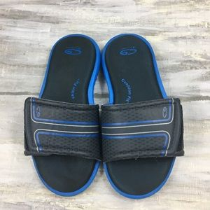 Champion C9 Cushion Fit Slides Sandals Navy Cobalt